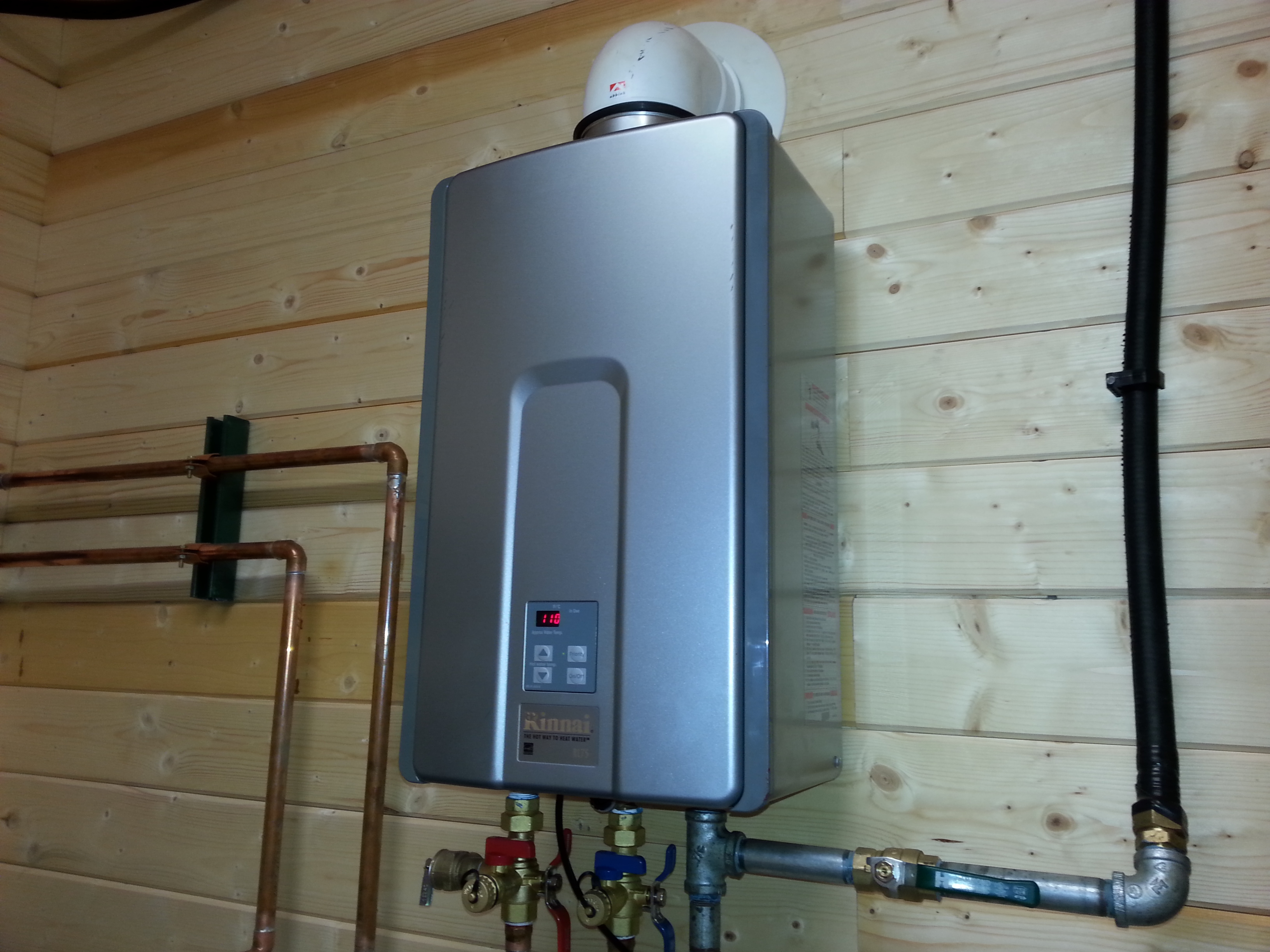 propane tankless water heater installation